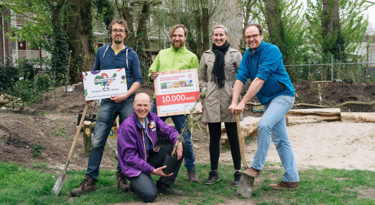 TF initiatiefnemers Tiny Forest Cremertuin Utrecht